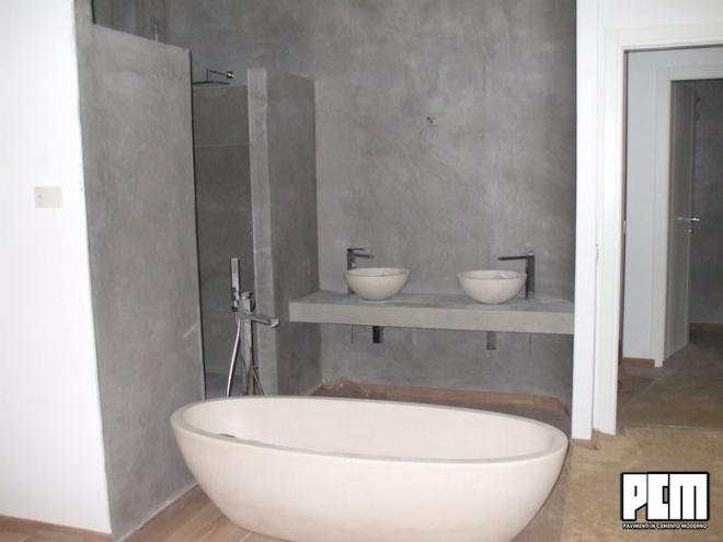 Pavimento in cemento per bagni