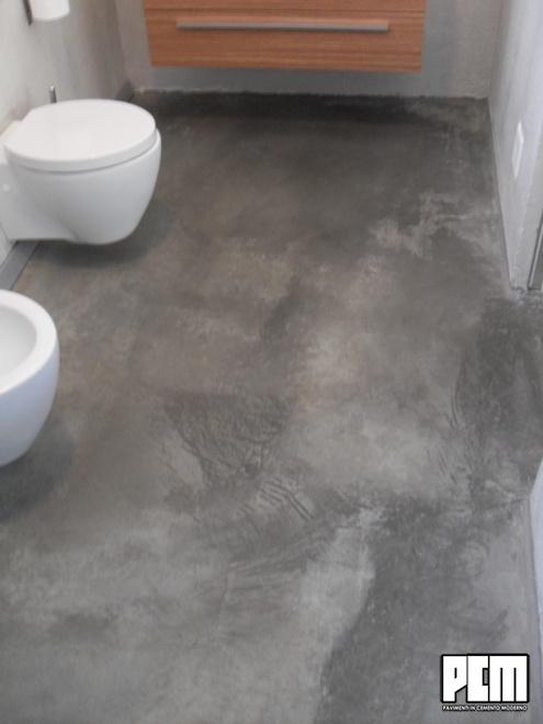 Pavimento in cemento per bagni - Bagno cemento spatolato ...