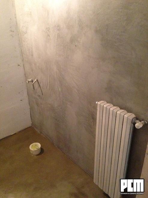 Cemento da parete for Pareti colorate particolari