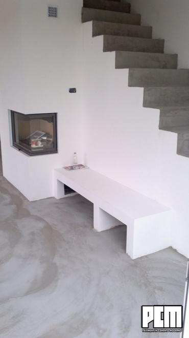 Pavimento in cemento spatolato soggiorno e loft for Pavimenti salotto