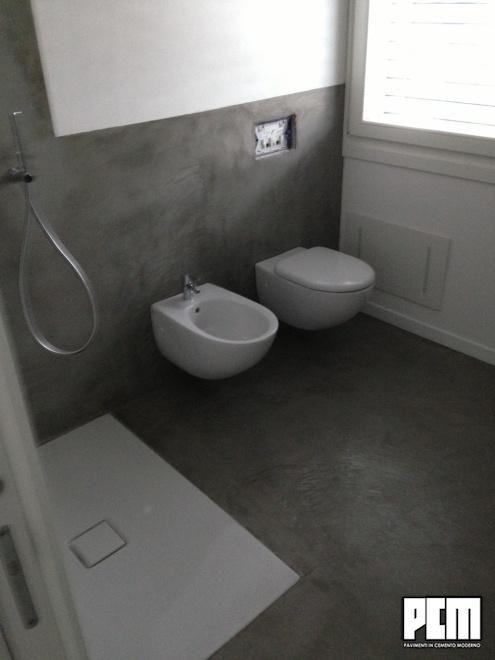 Pavimento in cemento per bagni - Microcemento bagno ...