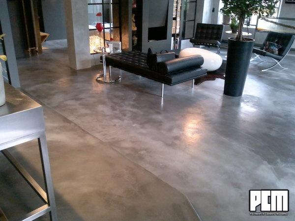 resina per pavimenti in cemento grezzo