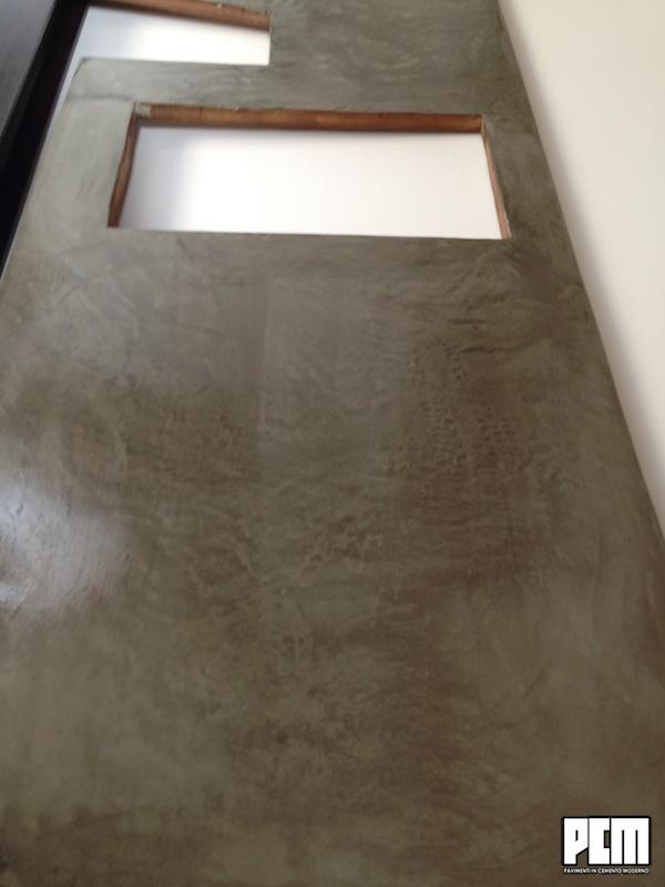 startstop4. top cucina in lastre di cemento traslucente. la quercia ...